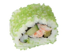 California roll tobiko wasabi